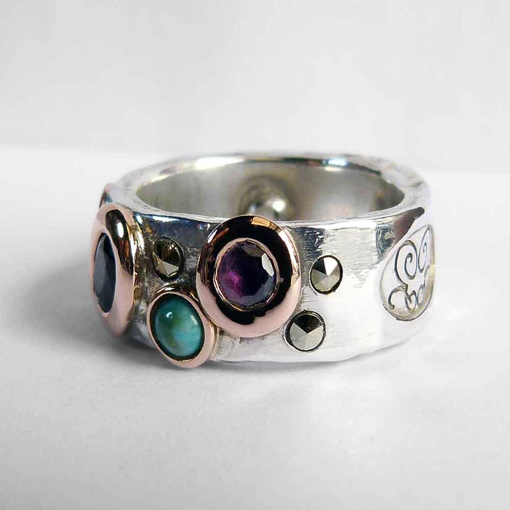 Funky Bespoke Wedding Ring - Custom Wedding Ring