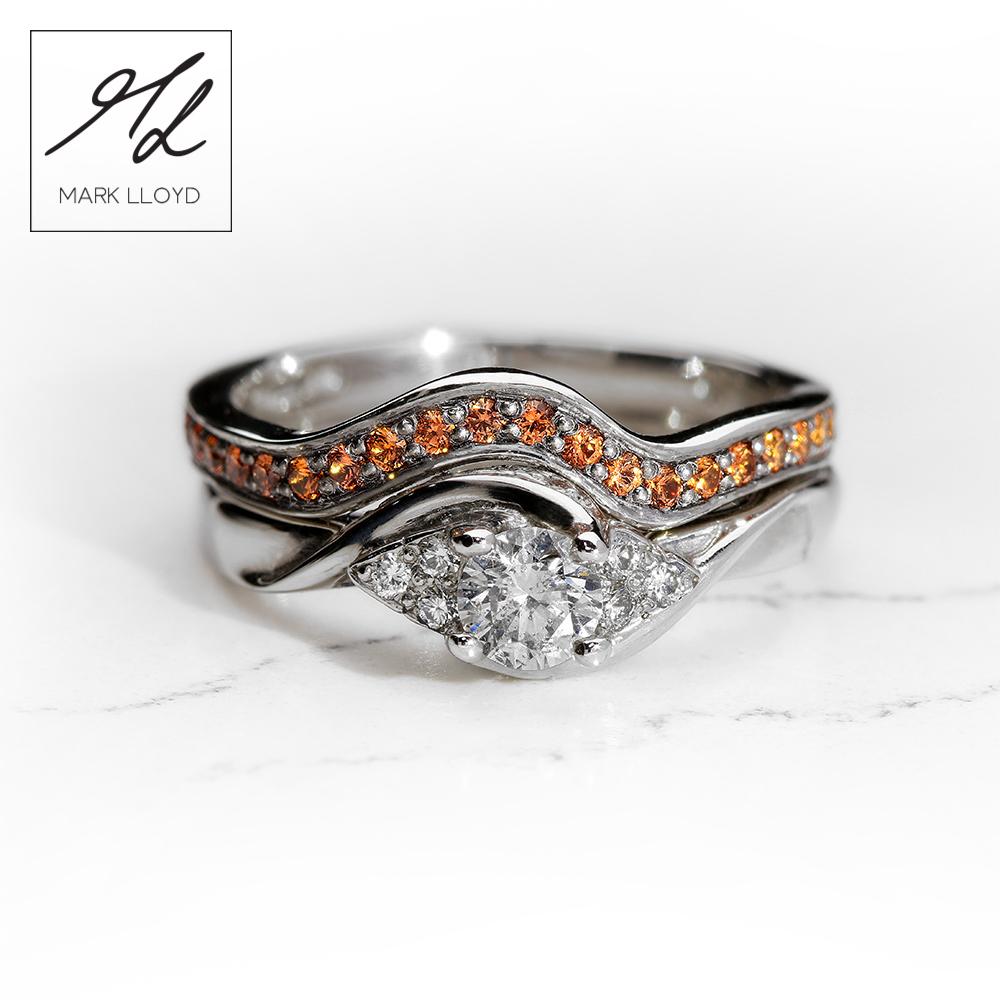 Palladium-Ring-set-Diamond-Orange-Sapphires