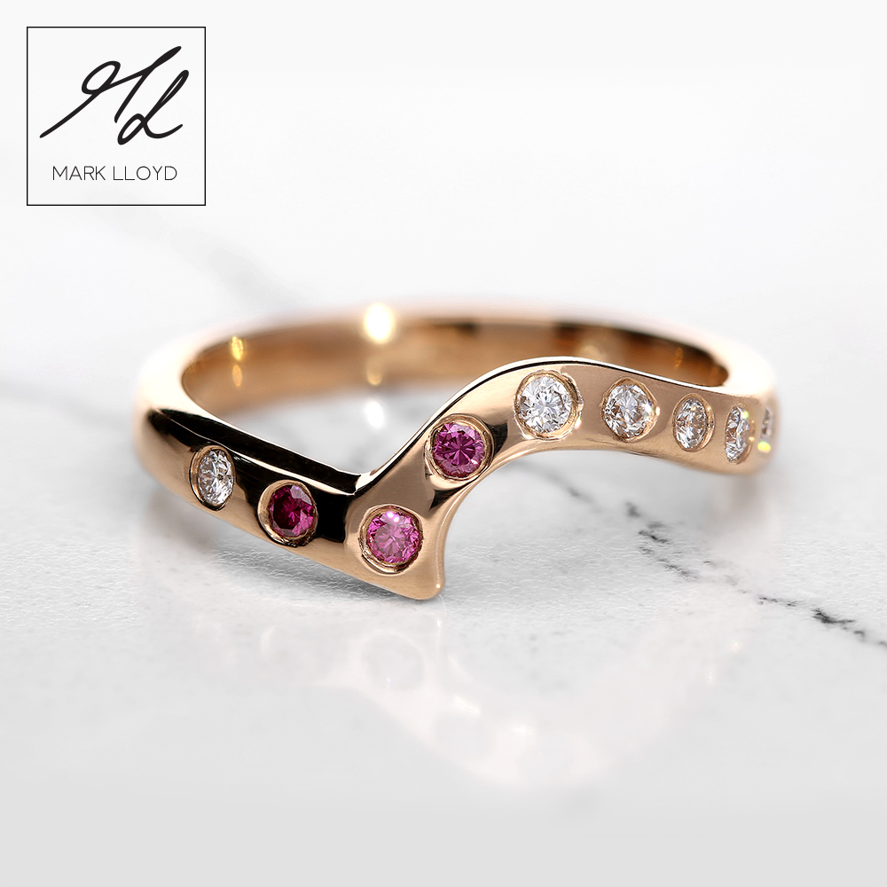 Rose Gold-Shaped-Ring-Pink-Diamonds