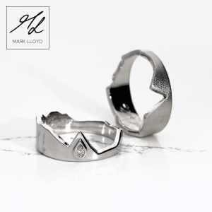 Silver-Two Part-Wedding-RING-SET 2