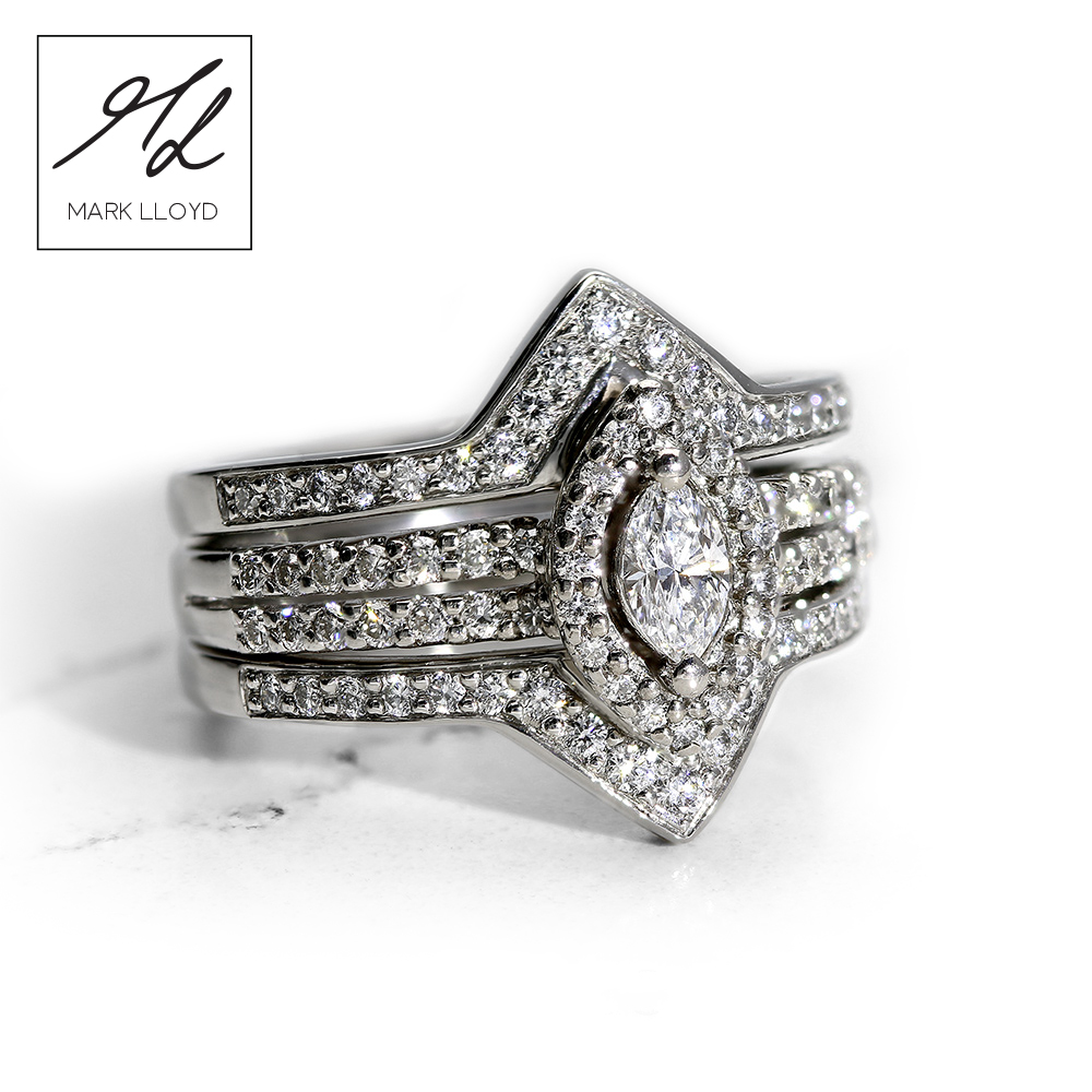 Platinum-Cage-Ring Set-Diamond Ring-1