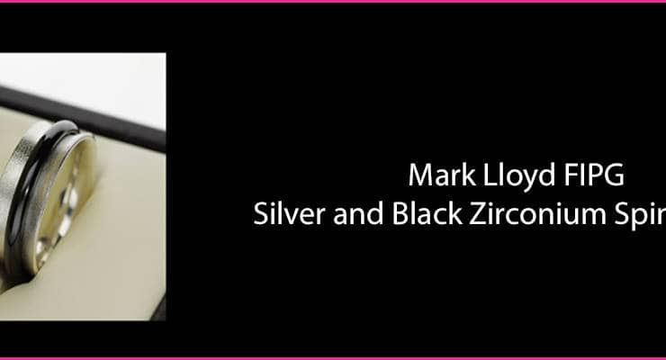 Mark Lloyd slider silver black zirconium spinner ring